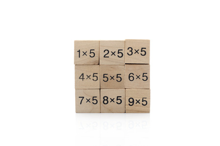 times square: Mathematical formula cube isolated on white background Stock Photo