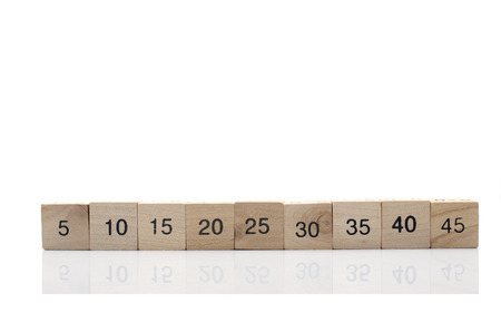 educational material: Mathematical formula cube isolated on white background Stock Photo