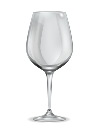 Empty wineglass. clean drinking crystal glass kitchen ware for wine liquor alcohol champagne vector realistic isolated illustration 向量圖像