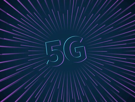 5G connection. Wireless data transmission technology speed smartphone broadband network connect internet hotspot fast