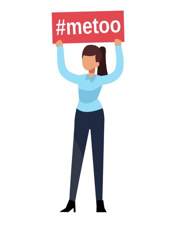 Metoo. Woman hands hold boss man sexual harassment sign workplace. Female humiliation fear in social groupe marriage concept