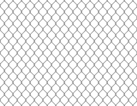 Fence chain seamless. Metallic wire link mesh metal seamless pattern prison barrier secured property barbed wall steels realistic construction