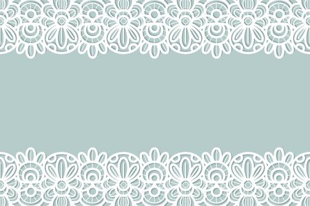 Lace background. Vintage ornament, floral embroidery luxury decor for birthday greeting card, wedding invitation, certificate vector sewing white flower texture 向量圖像