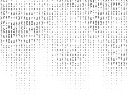 Binary code. Streaming decryption and encryption programming computer numbers, machine algorithms matrix coding. Hacker computing data concept vector texture