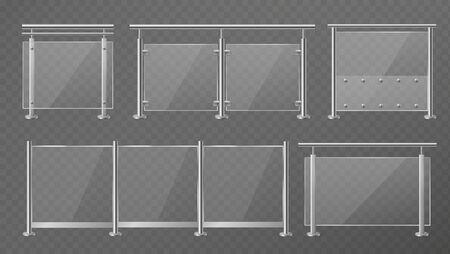 Glass fence.