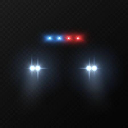 Police car headlights.