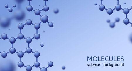 Molécules. Structure abstraite de la micromolécule, recherche scientifique en biotechnologie. Concept scientifique de vecteur d'ADN de formule de médecine de microbiologie d'innovation pharmaceutique