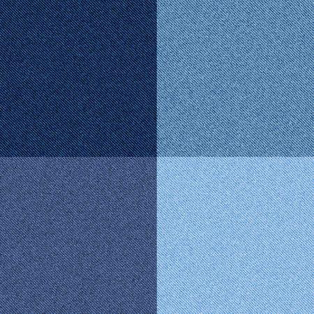 Denim texture. Seamless blue checkered traditional pattern, cotton tissue fashion print template, modern western apparel design. 向量圖像