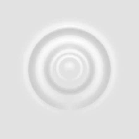 Milk splash. Ripple on white surface, realistic drop fall on cream dairy liquid product, rounds on yogurt, lotion or paint, macro view droplet on beverage, circle wave close up vector illustration