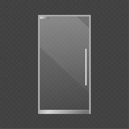Realistic closed glass door. vector isolated 3d single illustration Vettoriali