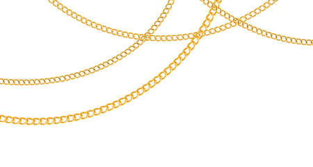Chain golden. Luxury chains different shapes Vector Illustratie