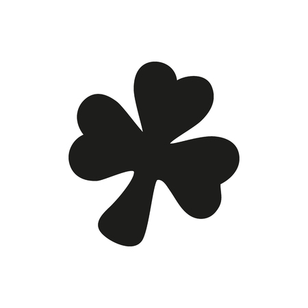 three leaf clover: Simple black Icon of three leaf clover style or design. Clover Icon Vector. Clover Icon Object. Clover Icon Picture. Clover Icon Graphic. Clover Icon Art. On a white background Illustration