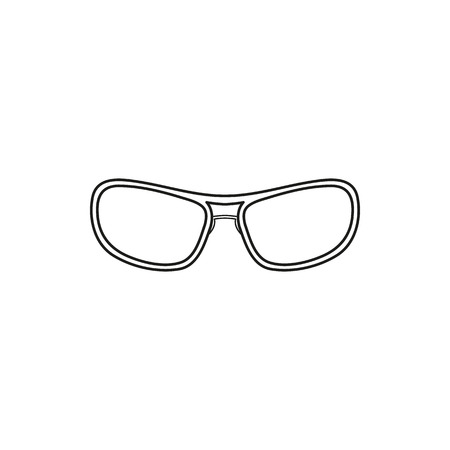 ocular: glasses simple black vector icon on white