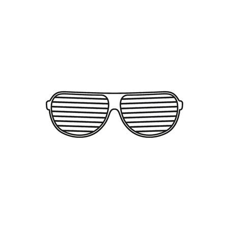 ocular: glasses simple black vector icon on white