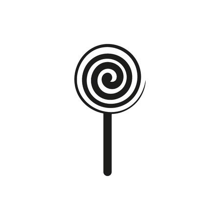 Einfache schwarze vertikale Lutscher Zeichen Symbol Vektor-Illustration isoliert auf weißem Hintergrund