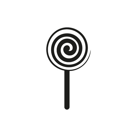 Simple black vertical lollipop sign icon vector illustration isolated on white background