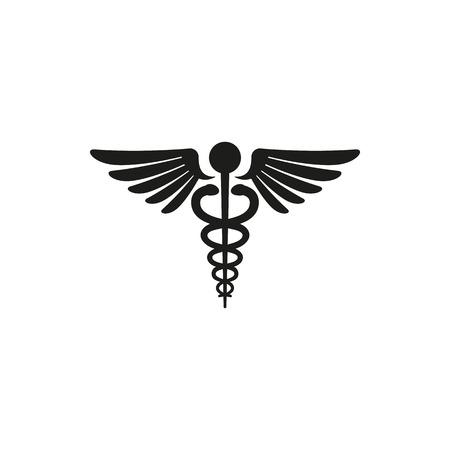pharmacy symbol: Medical symbol - emblem for drugstore or medicine, medical sign, symbol of pharmacy, pharmacy snake symbol