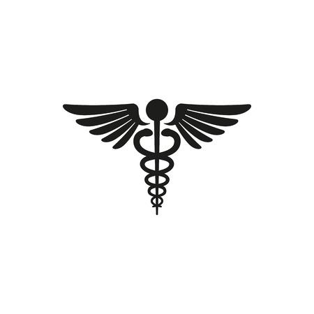 emblem for drugstore or medicine: Medical symbol - emblem for drugstore or medicine, medical sign, symbol of pharmacy, pharmacy snake symbol