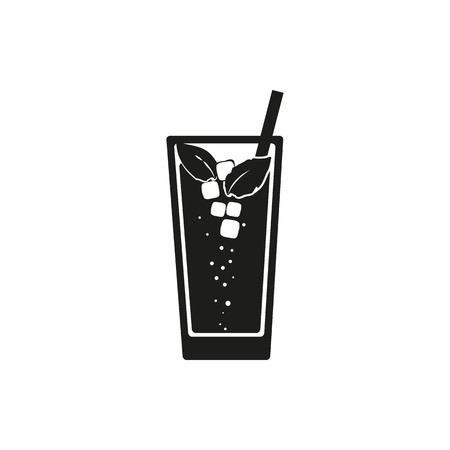 mohito: Simple black web icon Mojito on a white background. Vector illustration.