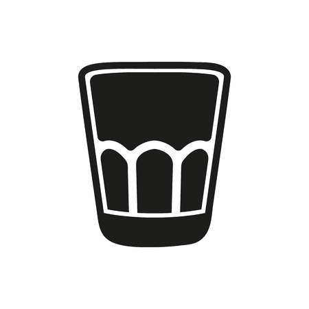 shot glass: Shot glass icon isolated on white background. Vector illustration.