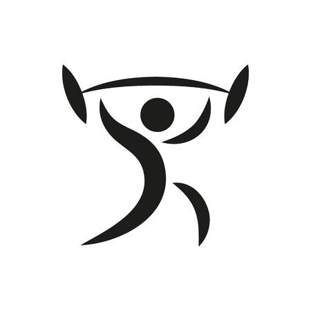 Gewichtheber Icon Erstellt für Mobile, Web, Dekor, Print Produkte, Anwendungen. Schwarz-Icon-Set isoliert auf weißem Hintergrund. Vektor-Illustration. Vektorgrafik