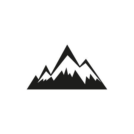 Bergen web eenvoudig zwart pictogram geïsoleerd op een witte achtergrond. Elementen voor bedrijf, printproducten, pagina en webinrichting. Vector illustratie.