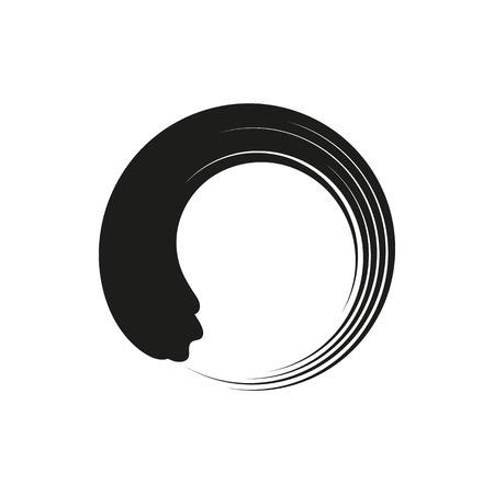 Zen enso circles in modern minimalist style. simple black icon isolated on white background. Elements for company print products, page and web decor. Vector illustration. Vetores