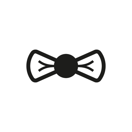 black bow: simple black Bow icon isolated on white background. Elements for company print products, page and web decor. Vector illustration. Illustration