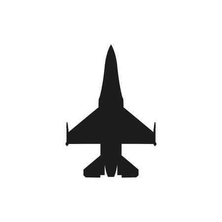 eenvoudige zwarte jager pictogram geïsoleerd op een witte achtergrond. Elementen voor printproducten van bedrijven, pagina en webinrichting. Vector illustratie. Vector Illustratie
