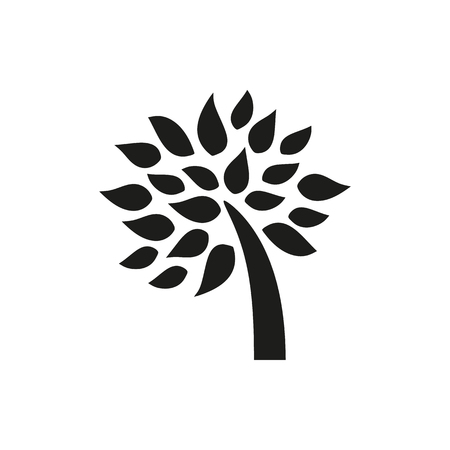 Simple minimal black tree icon symbol style design icon created for Mobile, Web, Decor, Print Products, Applications. On white background. Vector illustration. 向量圖像