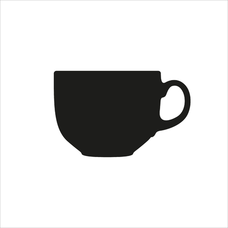 teaparty: cup icon Created For Mobile, Web, Decor, Print Products, Applications. Black icon isolated on white background