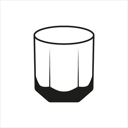 tumbler: Rocks Glass Tumbler sign simple icon Created For Mobile, Web, Decor, Print Products, Applications. Black icon isolated on white background