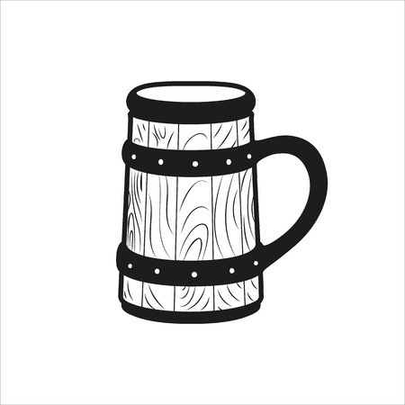 beer stein: Beer Stein icon Created For Mobile, Web, Decor, Print Products, Applications. Black icon isolated on white background Illustration