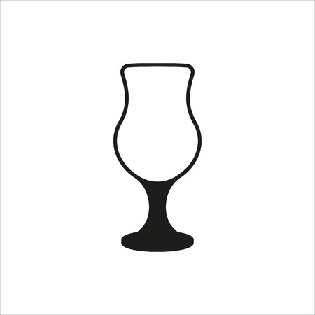 empty cocktail glass icon Created For Mobile, Web, Decor, Print Products, Applications. Black icon isolated on white background