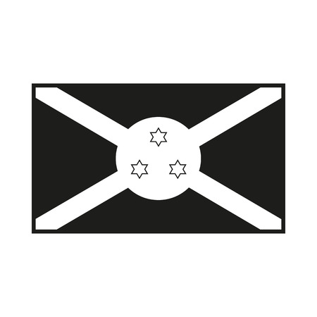 Burundi flag. Icon Created For Mobile, Web, Decor, Print Products, Applications. Simple black icon isolated on white background. Vector illustration.