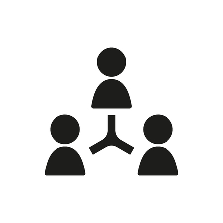 socializing: user internet sign icon in simple black design Created For Mobile, Web, Decor, Print Products, Applications. Black icon isolated. Vector illustration.