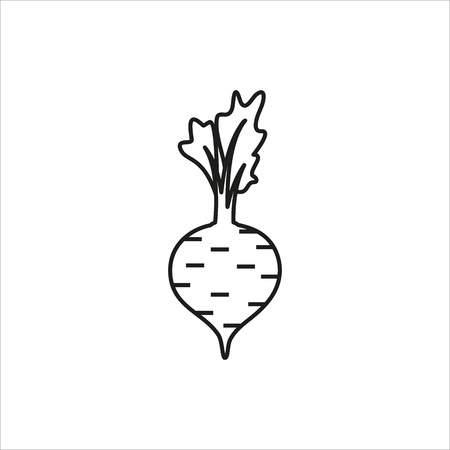 Beet simple icon on white background Created For Mobile, Web, Decor, Print Products, Applications. Vector illustration.