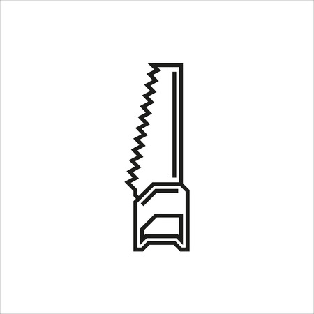 serrucho: icono del vector de sierra de mano sobre fondo blanco Creado para m�viles, Web, decoraci�n, impresi�n Productos, Aplicaciones. el icono aislado. Ilustraci�n del vector.