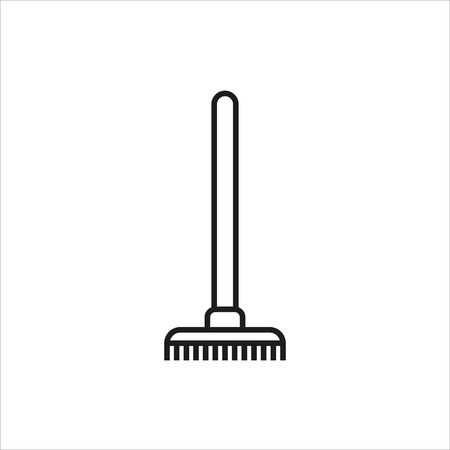 raking: Rake Icon icon on white background Created For Mobile, Web, Decor, Print Products, Applications. Icon isolated. Vector illustration.