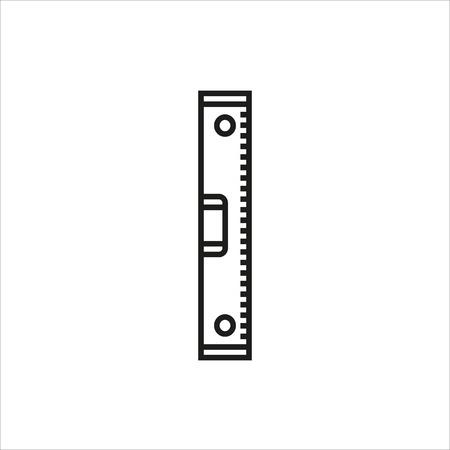 Waterpas teken pictogram op een witte achtergrond gemaakt voor mobiel, web, Decor, Print producten, toepassingen. Pictogram geïsoleerd. Vector illustratie.