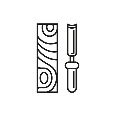chisel: Chisel icon on white background Created For Mobile, Web, Decor, Print Products, Applications. Icon isolated. Vector illustration. Illustration