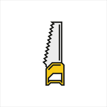 handsaw: Handsaw vector icon on white background Created For Mobile, Web, Decor, Print Products, Applications. Icon isolated. Vector illustration.