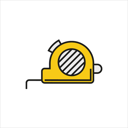 Tape measure icon on white background Created For Mobile, Web, Decor, Print Products, Applications. Icon isolated. Vector illustration.