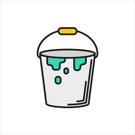 Pot de peinture vecteur icône sur fond blanc créé pour Mobile, Web, décoration, produits d'impression, Applications. Icône isolé. Vector illustration. Vecteurs