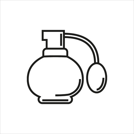 Perfume icon Created For Mobile, Web, Decor, Print Products, Applications. Black icon isolated. Vector illustration. Illustration