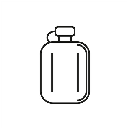 hip flask: Hip flask simple icon on white background Created For Mobile, Web, Decor, Print Products, Applications. Black icon isolated. Vector illustration. Illustration