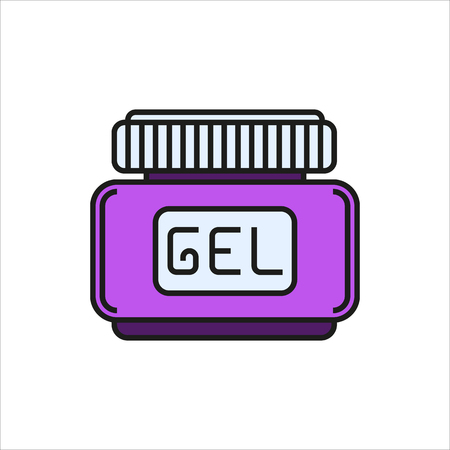 hair gel: hair gel icon Created For Mobile, Web, Decor, Print Products, Applications. Color icon isolated. Vector illustration. Illustration