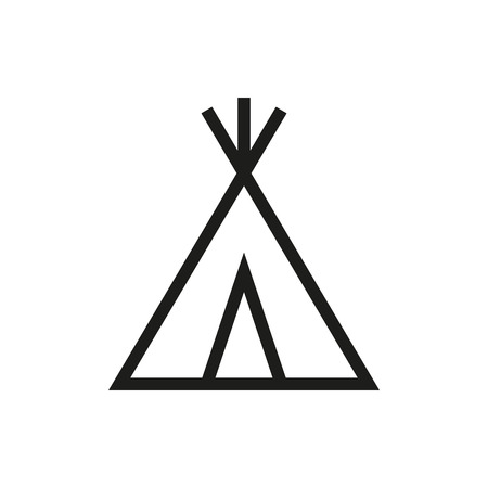 wigwam icon on white background Created For Mobile, Web, Decor, Print Products, Applications. Icon isolated. Vector illustration.