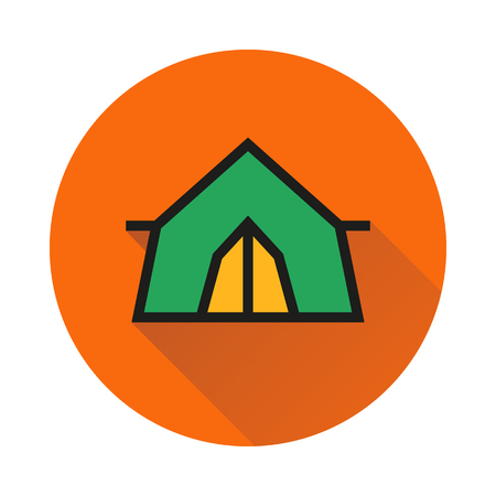 Tent icon on white background Created For Mobile, Web, Decor, Print Products, Applications. Icon isolated. Vector illustration.