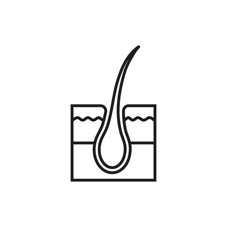 dermis: Hair follicle treatment on white background Created For Mobile, Infographics, Web, Decor, Print Products, Applications. Icon isolated. Vector illustration